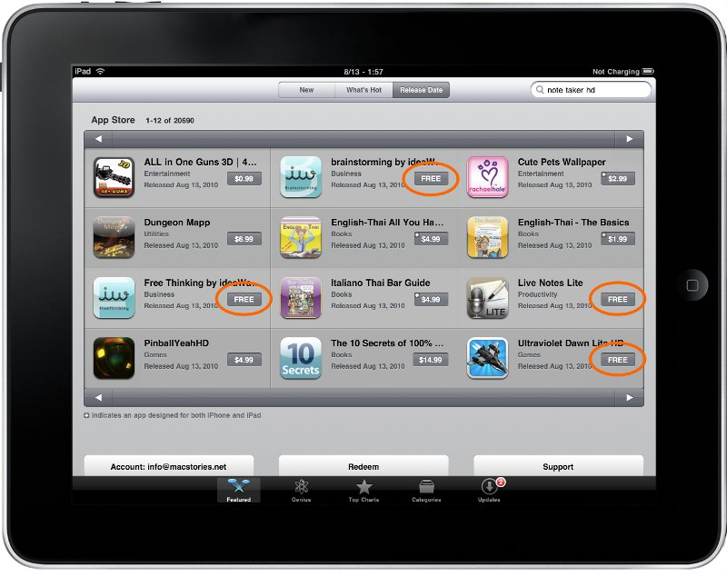 ����������� � app store