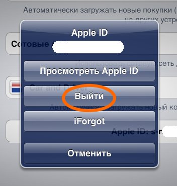 ��� �������� Apple ID �� iPad