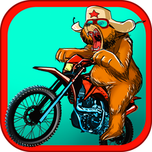 Russian Bear Motorcycle Traffic Race