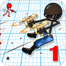Sniper Shooter Stickman American: Shot Kill Bravo