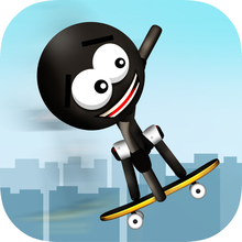 Stickman Big Air Skateboarding