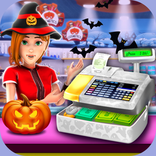 Halloween Supermarket Store - Time Management Game