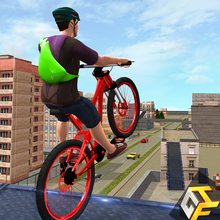 Rooftop Bicycle Stunts Simulator 2017