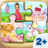 Toddler Apps - Wooden Puzzle for Girls (6 Pieces) 2+