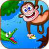 A Silly Monkey - cut the vines and swing from rope to rope to land on the island!