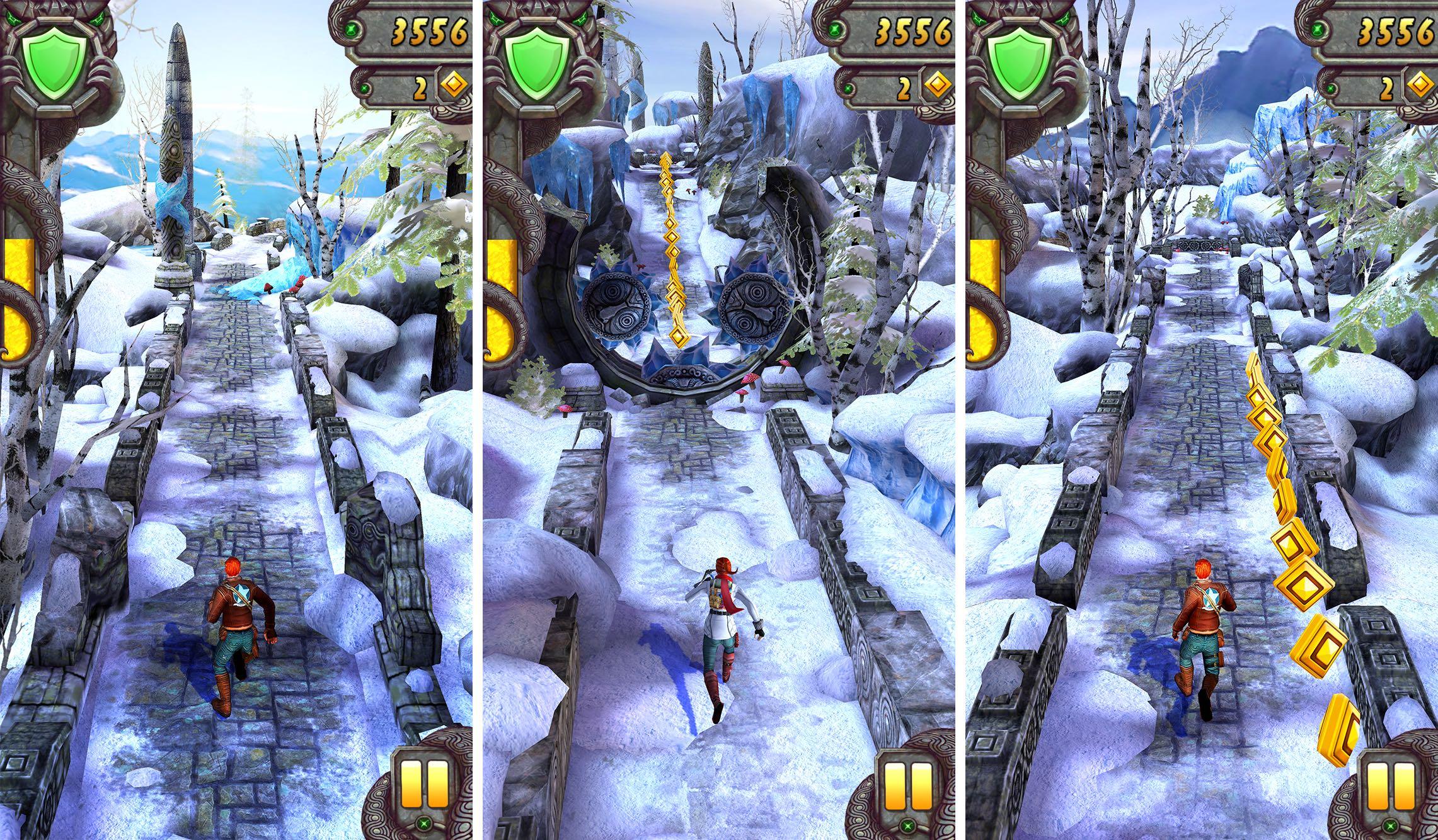 temple run 2 пришла зима